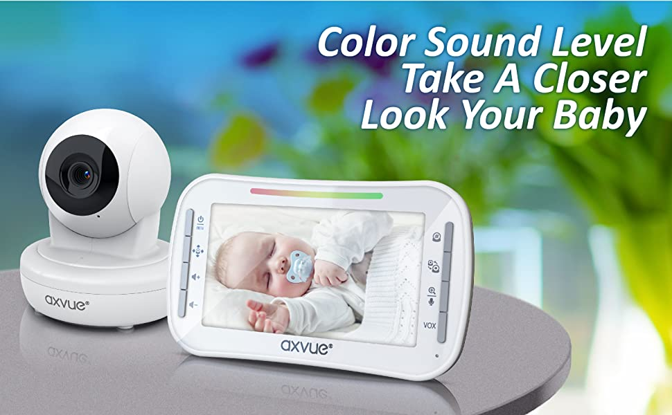 Your Smart Choice, AXVUE Video Baby Monitor E9650-W.