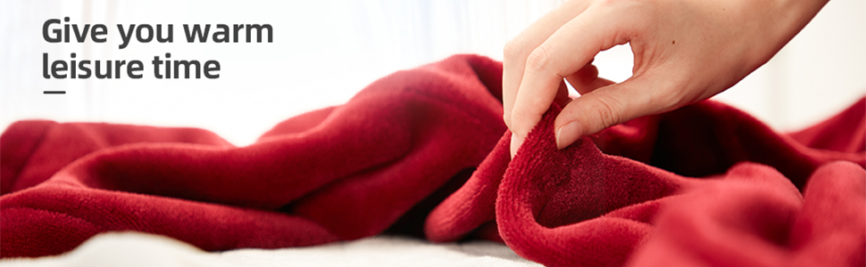 red heated blanket