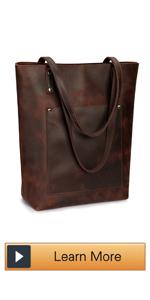 Vertical Leather Tote