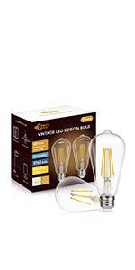 ST64 LED Edison Bulb