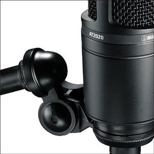 Detalhe do tripé do microfone