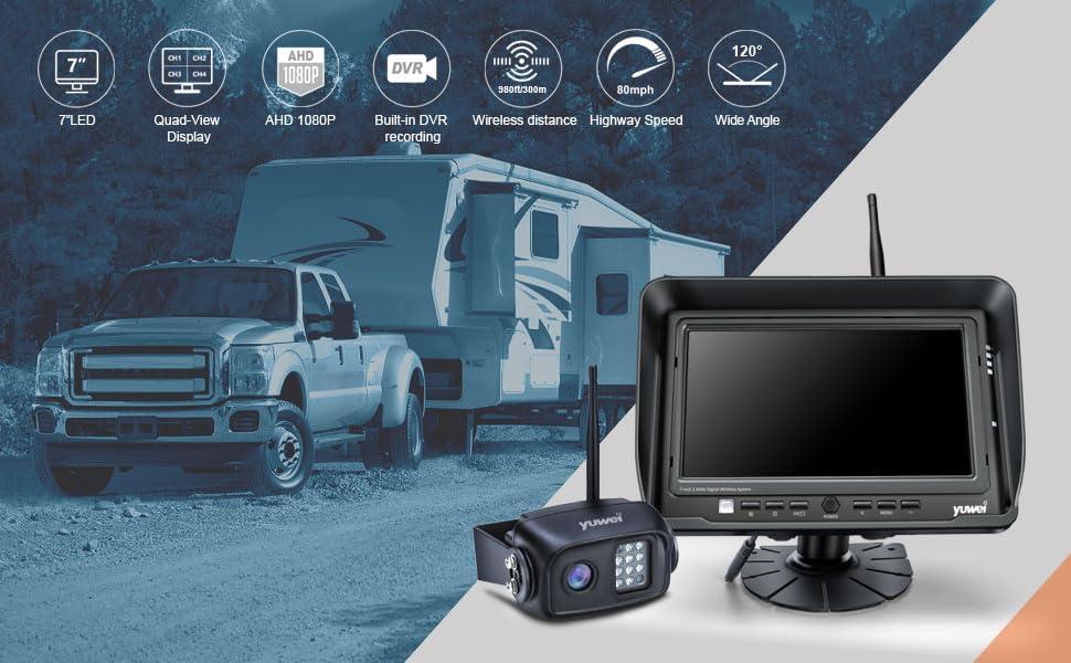 wireless backup camera, reverse camera, rear view camea system