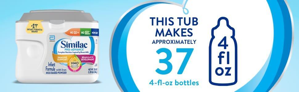 this tub will yield 37 4 fl oz bottles