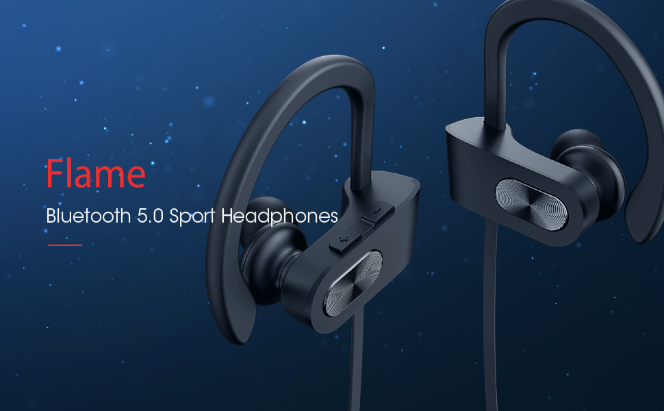 Black Running Headphones Wireless Sport Earbuds Wireless Earbuds Running Earbuds Gym Workout