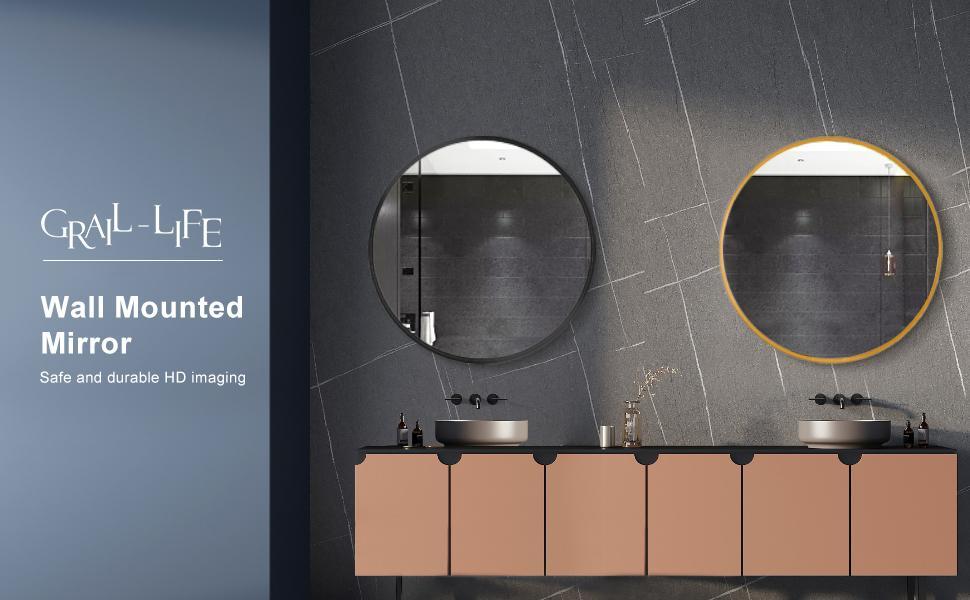 GRAIL-LIFE Bathroom Round Mirror