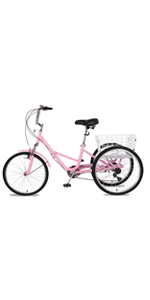 26 inch folding tricycle