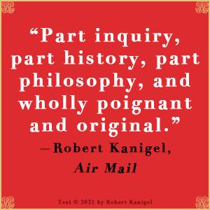 Letters to Camondo Edmund de Waal Robert Kanigel quote