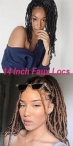 Short Faux Locs Crochet Hair 14 inch