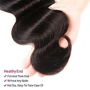 human hair bundles with hd closure