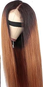 Ombre Lace Closure Wig Straight