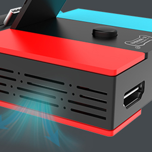 switch tv dock with heat dissipation