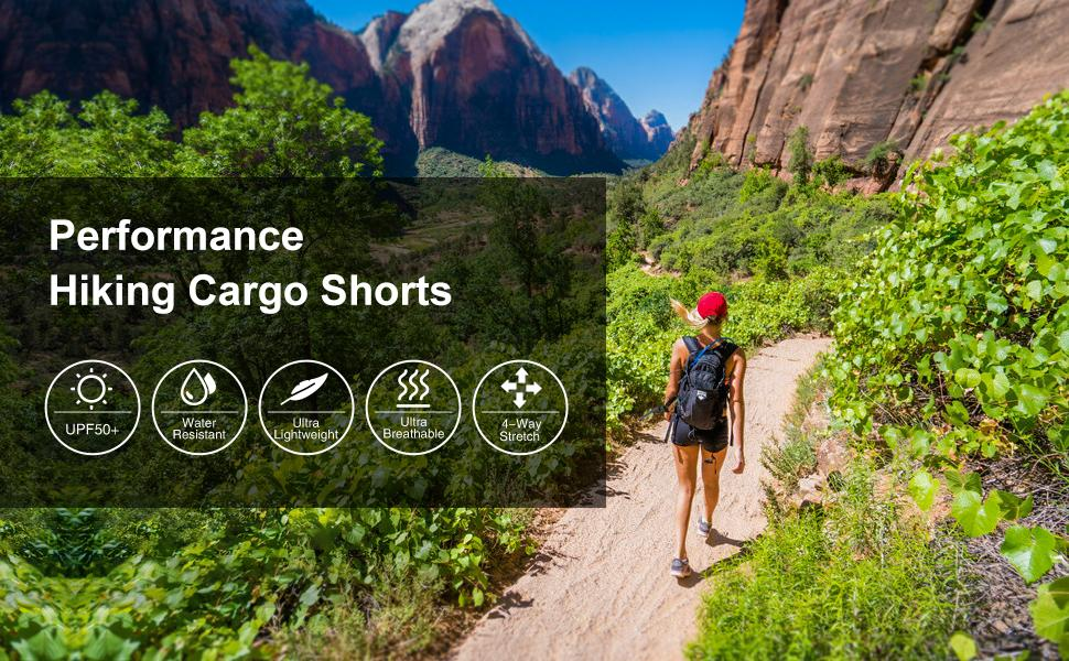 womens hiking cargo shorts