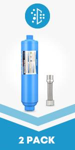 rv water filter 2 packs with hose protector