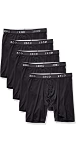 IZOD Men's 5 Pack Performance Cycle Boxer Brief