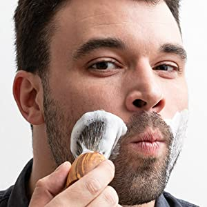 Soaking the beard