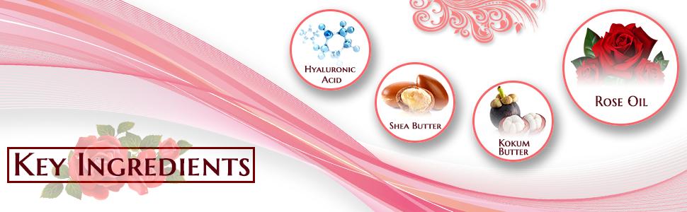 Lipaegis lip balm ingredients hyaluronic acid, shea butter, kokum butter, rose oil.