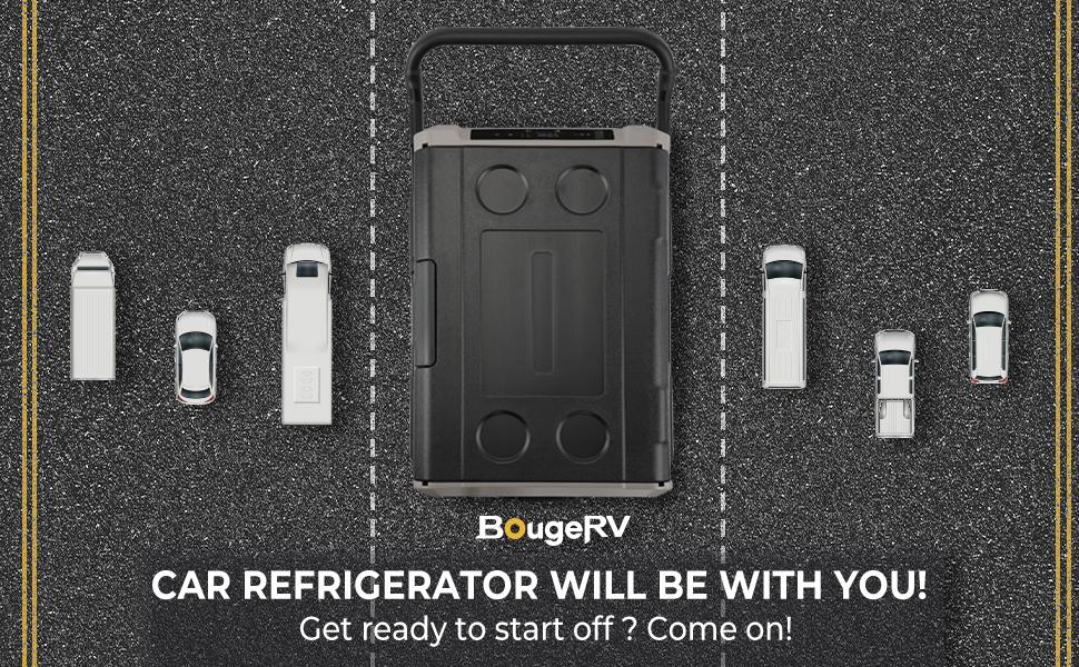 BougeRV Dual Zone Car Refrigerator CR35