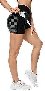texturerade shorts
