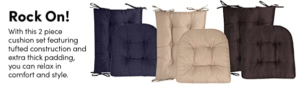 Rock on with this 2 piece cushion set featuring tufted construction and extra thick padding