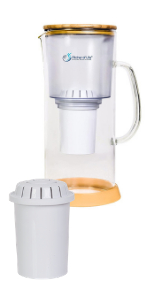 Alkaline Water Glass Pitcher of Life with F004 Filter
