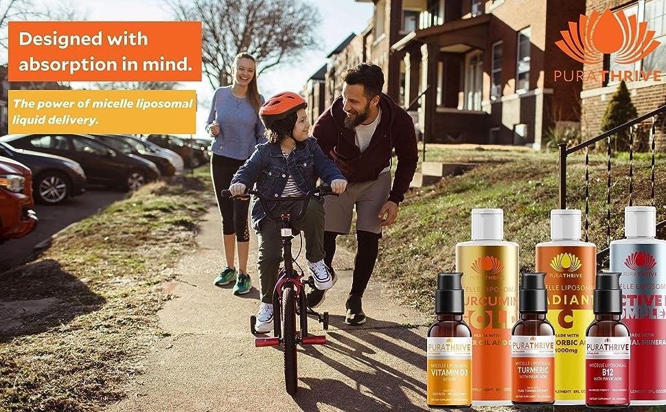purathrive bioavailable turmeric liposomal liquid delivery supplements family power