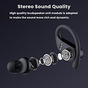 Stereo sound quality earbuds