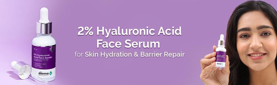 2% Hyaluronic Acid Face Serum for Skin Hydration & Barrier Repair