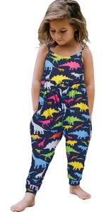 Girls Romper Bodysuit Playsuit Jumpsuit