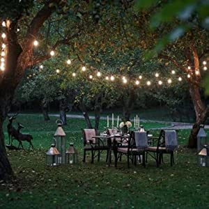 outdoor string lights led 50 ft