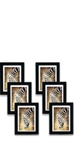 5x7 Black Picture Frame Set of 6