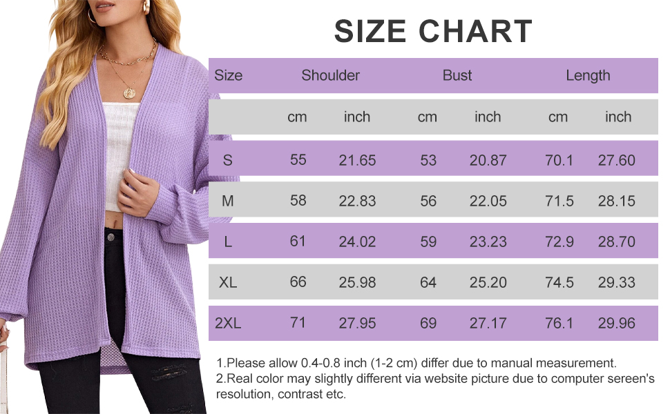 waffle knit cardigans for women