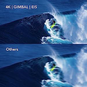 4k camera for best shooting effect, gimbal stablization