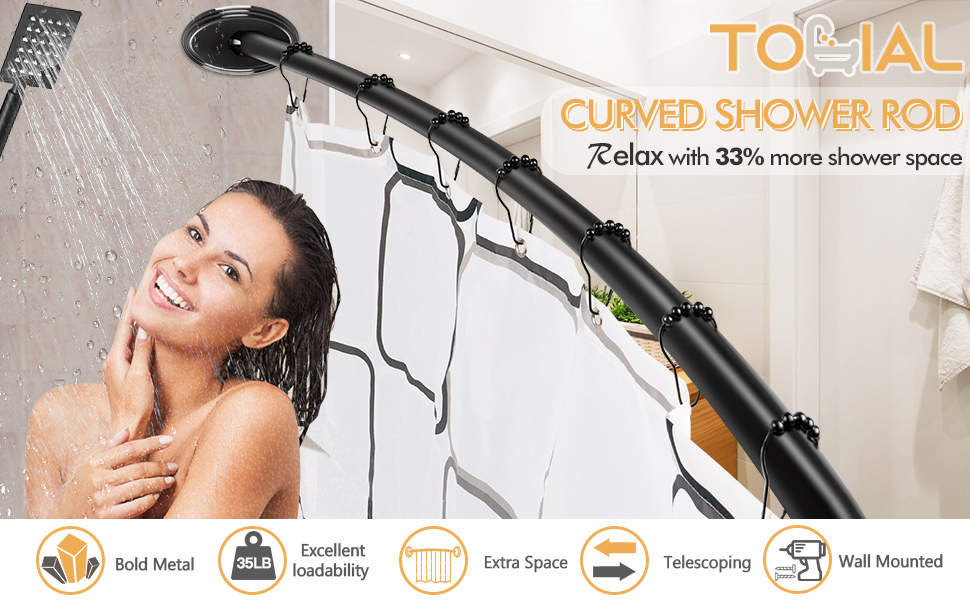 tonial curved shower rod