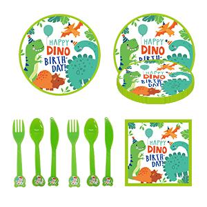 Dinosaur theme tableware