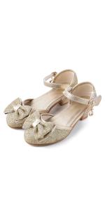 gold princess shoe