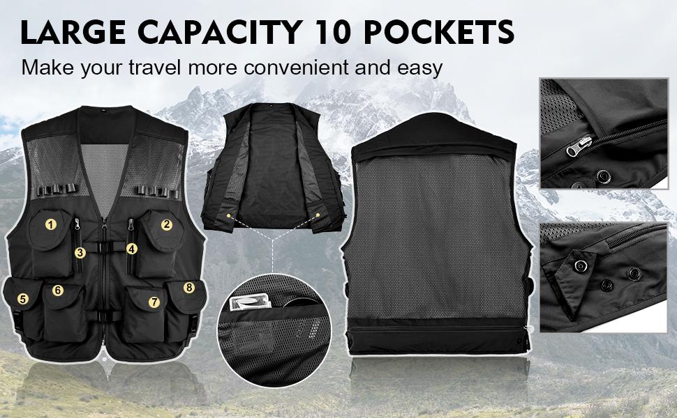 Multi-pocket fishing vest