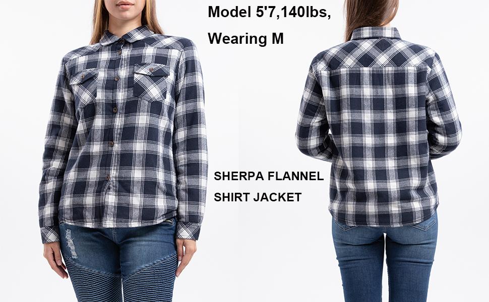 women sherpa flannel jacket