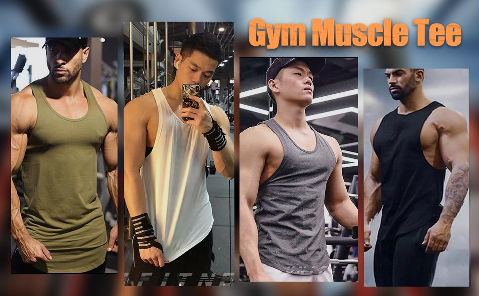 Men's 3 Pack Workout Tank Tops Gym Sleeveless Bodybuilding Muscle Tee
