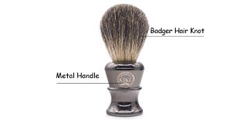 Kikc brush- Handmade brush bread brush shaving brush with brown badger hair knot