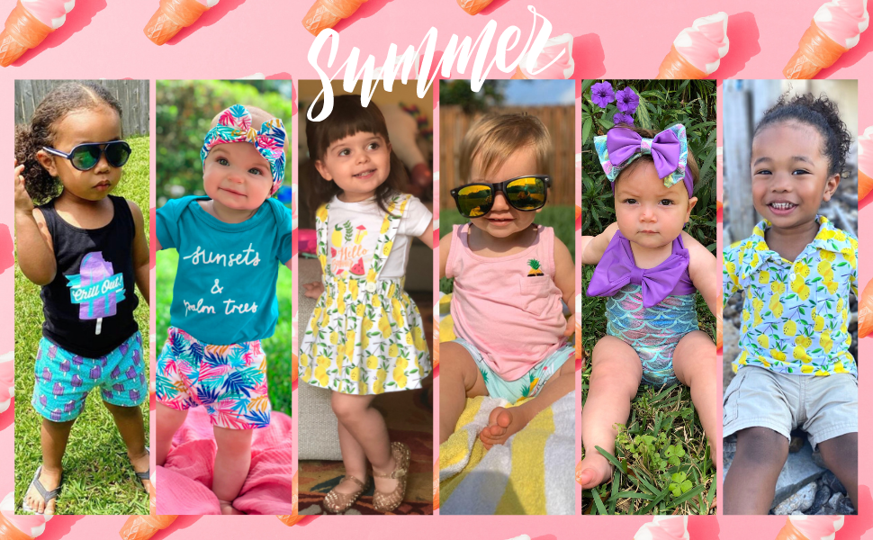 Summer Dresses Summer Short Sets for Girls Boys