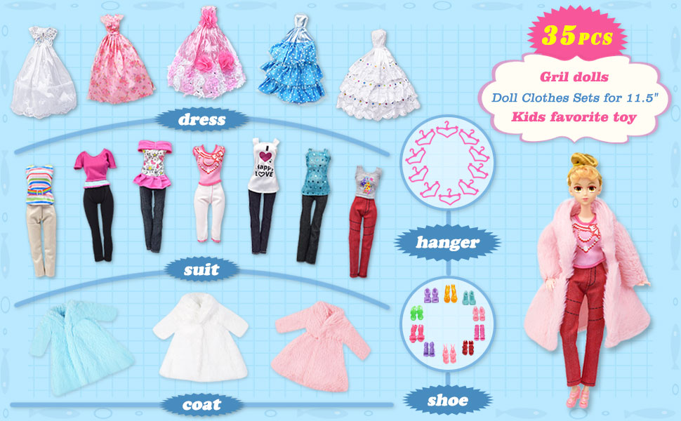 Doll Clothes and Accessories,Doll Shoes,Doll Hangers