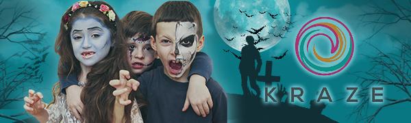 Kraze FX Black amp; White Face Paint Makeup for Kids, Halloween
