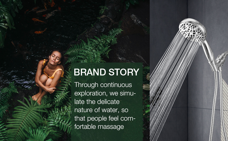 BOWGER shower head simulates the delicate nature of water so that people feel a comfortable massage