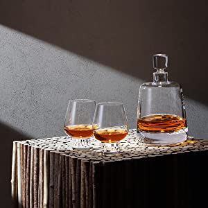 Madrid decanter and double old fashion glasses