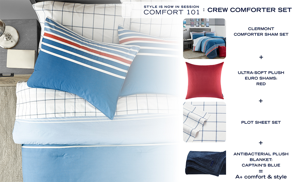 Mix and Match With Our Endless Style Options, Red, Blue, Black, Grey, Dorm Bedding, prime, amazon,