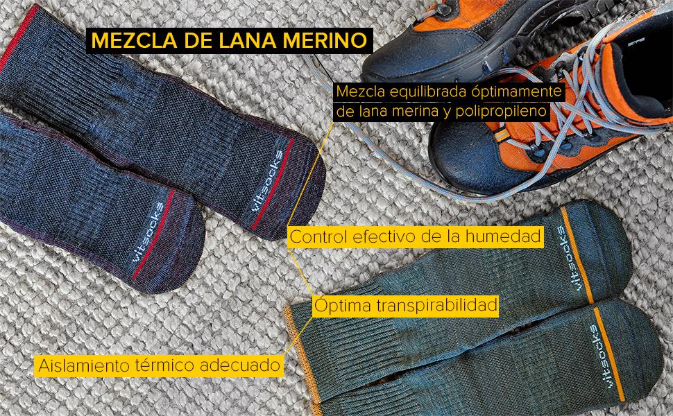calcetines lana merino hombre anti-ampollas