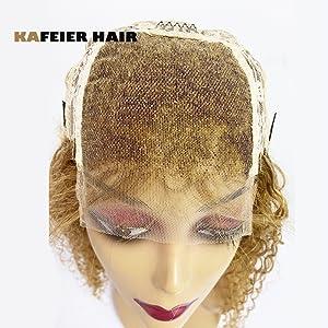 Honey Blonde Curly Wig