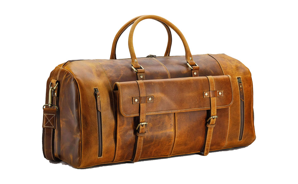 Leather Duffel Bags Full Grain Leather Travel Overnight Weekend Leather Bags Sports Gym Duffle