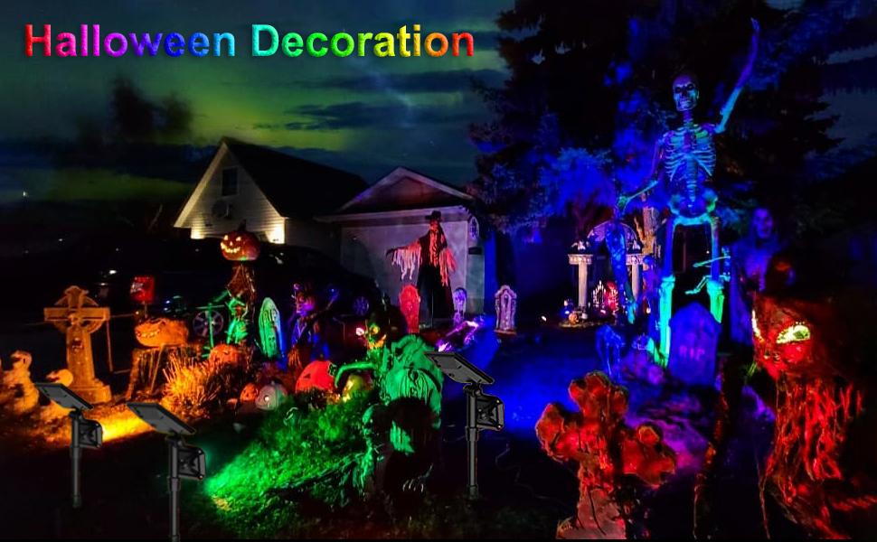 solar spot lights outdoor landscape spotlights Halloween decoration
