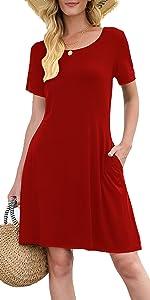 Womens Casual Tshirt Dresses